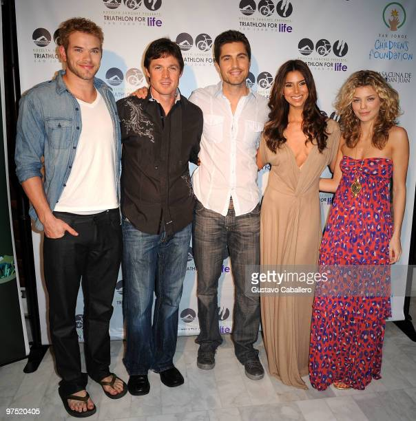 Kellan LutzEric CloseEric Winter Roselyn Sanchez and Annalynne McCord attends the after Pool Party For The Roselyn Sanchez Triathlon For Life on...