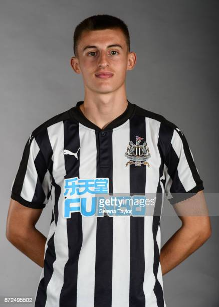 Kelland Watts during the Newcastle United Photocall at The Newcastle United Academy on September 26 in Newcastle upon Tyne England