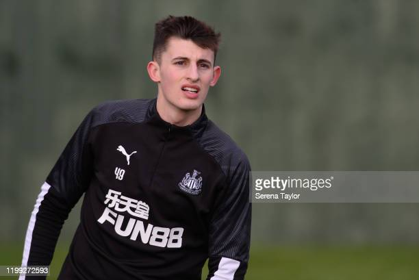 Kelland Watts during the Newcastle United Training Session at the Newcastle United Training Centre on January 13 2020 in Newcastle upon Tyne England