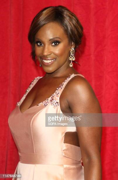 Kelle Bryan arrives on the red carpet during The British Soap Awards 2019 at The Lowry, Media City, Salford in Manchester.