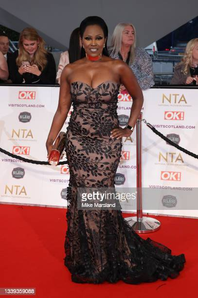 Kelle Bryan attends the National Television Awards 2021 at The O2 Arena on September 09, 2021 in London, England.