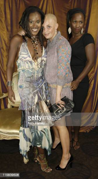 Kelle Bryan Gail Porter and Michelle Gayle during Gina Shoe's 50th Birthday Party at The Bar at The Dorchester at Dorchester Hotel in London Great...
