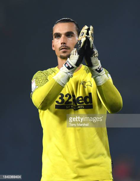 Kelle Roos of Derby County during the Sky Bet Championship match between West Bromwich Albion and Derby County at The Hawthorns on September 14, 2021...