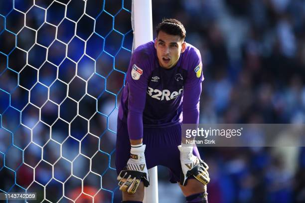 Kelle Roos of Derby County looks dejected during the Sky Bet Championship match between Birmingham City and Derby County at St Andrew's Trillion...