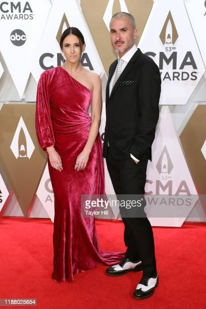 Kelleigh Bannen and Zane Lowe attend the 53nd annual CMA Awards at Bridgestone Arena on November 13 2019 in Nashville Tennessee