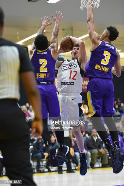 Kellen Dunham of the Capital City GoGo goes to the basket against the South Bay Lakers on December 13 2018 at UCLA Heath Training Center in El...