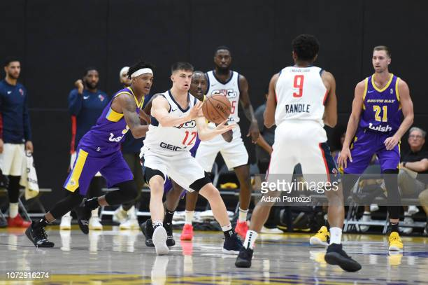 Kellen Dunham of the Capital City GoGo passes the basketball against the South Bay Lakers on December 13 2018 at UCLA Heath Training Center in El...