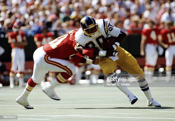 Kellen Winslow of the San Diego Chargers during a game against the Kansas City Chiefs on September 20 1981 in Kansas City Missouri