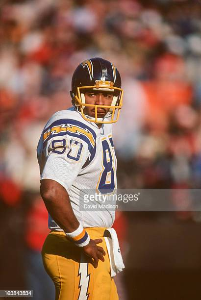Kellen Winslow of the San Diego Chargers looks to the sidelines during a National Football League game against the San Francisco 49ers played on...