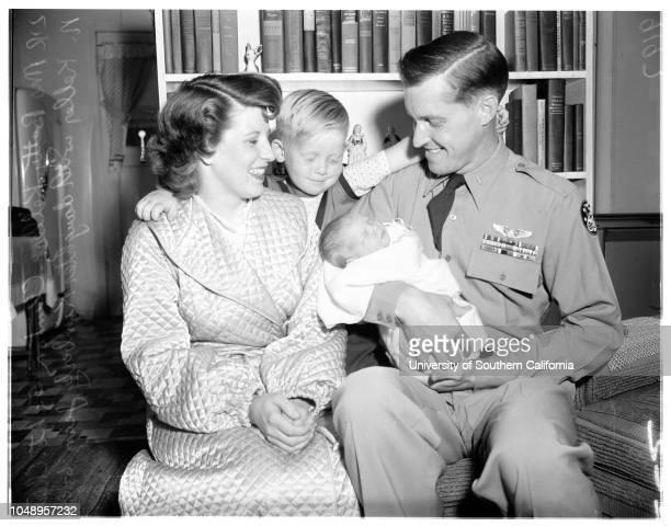 Keller baby, June 18, 1951. Lieutenant Chester N Keller -- 29 years;Mrs Betty Keller -- 25 years;Clinton Keller -- 5 years;Kimberly Jean Keller...