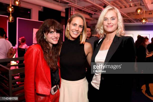 Kelley Ash VP of Brand and Marketing at Playboy Enterprises Anna Ondaatje and Taylor Bagley attend the Playboy Playhouse on May 9 2019 in Hollywood...