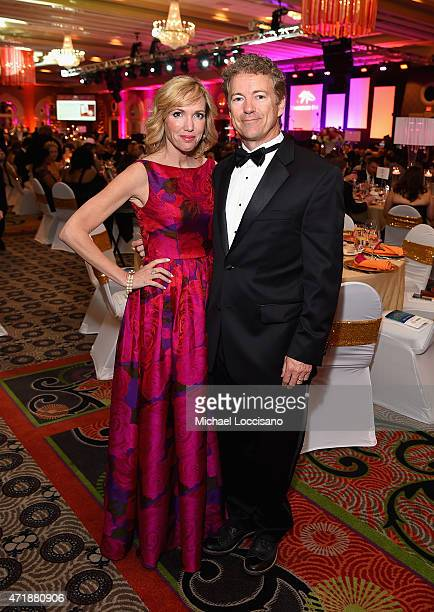 Kelley Ashby Paul and Senator Rand Paul of Kentucky attends the 141st Kentucky Derby Unbridled Eve Gala at Galt House Hotel Suites on May 1 2015 in...