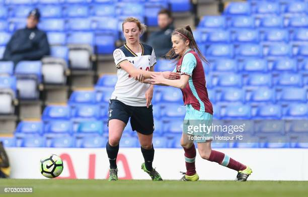 Kelley Blanchflower of Tottenham in action during the FA Women's Premier League match between Tottenham Hotspur and West Ham United at White Hart...