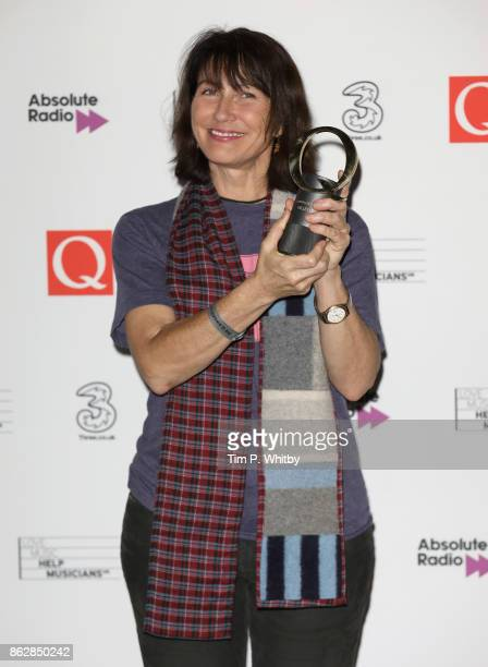 Kelley Deal with the Gibson Les Paul award during the Q Awards 2017 in association with Absolute Radio at The Roundhouse on October 18 2017 in London...