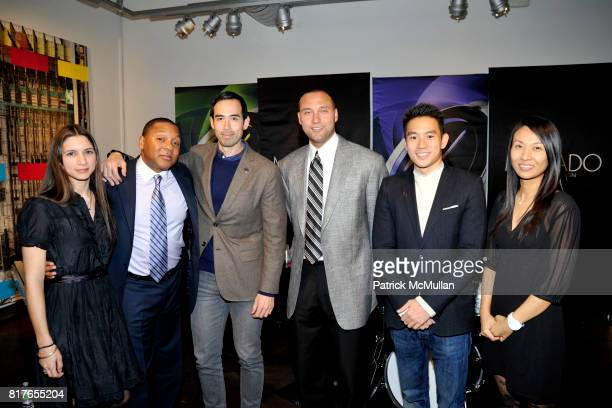 Kelley Hensing Wynton Marsalis Will Varner Derek Jeter Eugene Tong and Jungyeon Roh attend MOVADO Presents The Night Of Discovery at Visual Arts...