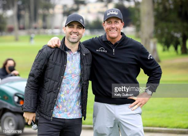Kelley James and Phil Mickelson attend The Workday Charity Classic, hosted by Stephen and Ayesha Curry's Eat. Learn. Play. And Workday, at Franklin...
