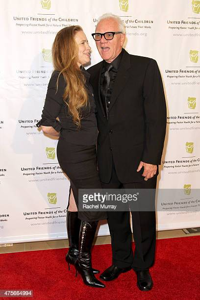 Kelley Kuhr and actor Malcolm McDowell attend United Friends Of The Children Brass Ring Awards Dinner honoring Roy Price and Ande Rosenblum at The...