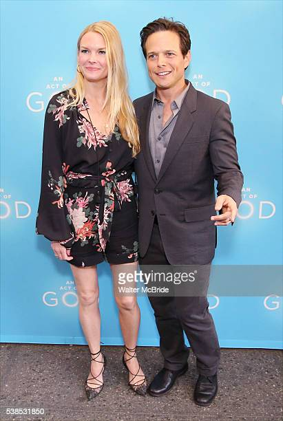 Kelley Limp and Scott Wolf attend the Broadway Opening Night performance of 'An Act Of God' at the Booth Theatre on June 6 2016 in New York City