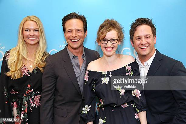 Kelley Limp Scott Wolf Jessica Stone and Christopher Fitzgerald attend the Broadway Opening Night performance of 'An Act Of God' at the Booth Theatre...