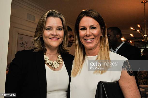 Kelley McCormick and Kate Glassman Bennett attend a reception to honor Giovanna Gray Lockhart as the new Glamour Washington DC Editor at a private...