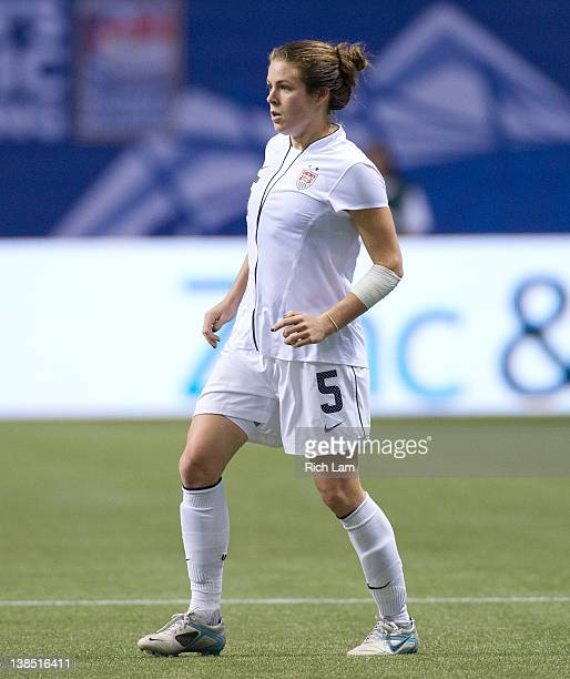 Kelley O'Hara of the United States during the championship match of the 2012 CONCACAF Women's Olympic Qualifying Tournament at BC Place on January 29...