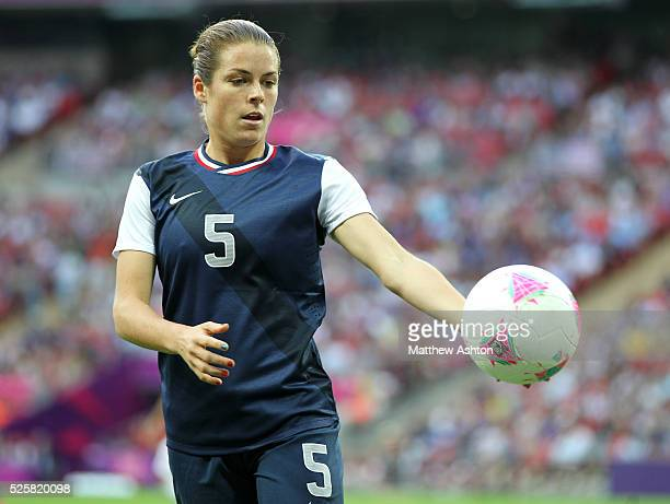 Kelley O'Hara of the United States of America during the 2012 London Olympic Summer Games at Wembley Stadium London UK on August 9th 2012