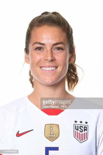Kelley O'hara of the USA poses for a portrait during the official FIFA Women's World Cup 2019 portrait session at Best Western Premier Hotel de la...
