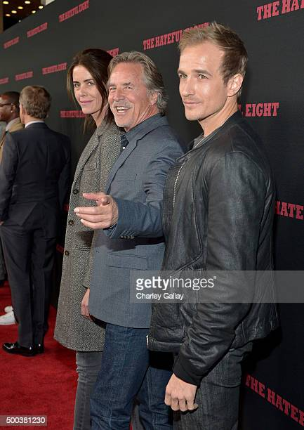 Kelley Phleger actor Don Johnson and Jesse Johnson attend the world premiere of The Hateful Eight presented by The Weinstein Company at ArcLight...