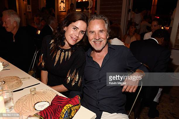 Kelley Phleger and Don Johnson attend Apollo in the Hamptons 2016 at The Creeks on August 20 2016 in East Hampton New York
