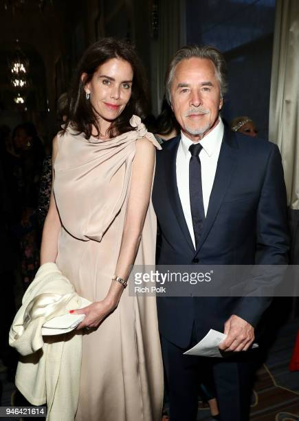 Kelley Phleger and Don Johnson attend the Seventh Biennial UNICEF Ball Los Angeles on April 14 2018 in Beverly Hills California