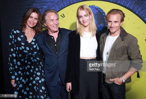 Kelley Phleger Don Johnson Grace Johnson and Jesse Johnson attend the premiere of HBO's Watchmen at The Cinerama Dome on October 14 2019 in Los...