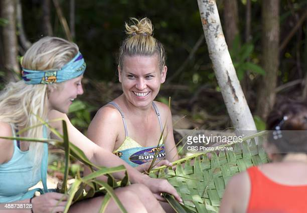 Kelley Wentworth and AbiMaria Gomes during the special 90minute season premiere of SURVIVOR Wednesday Sept 23 The new season in Cambodia themed...