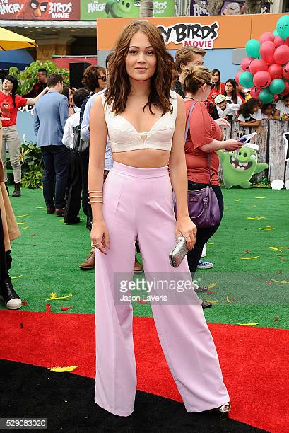 Kelli Berglund attends the premiere of 'Angry Birds' at Regency Village Theatre on May 7 2016 in Westwood California