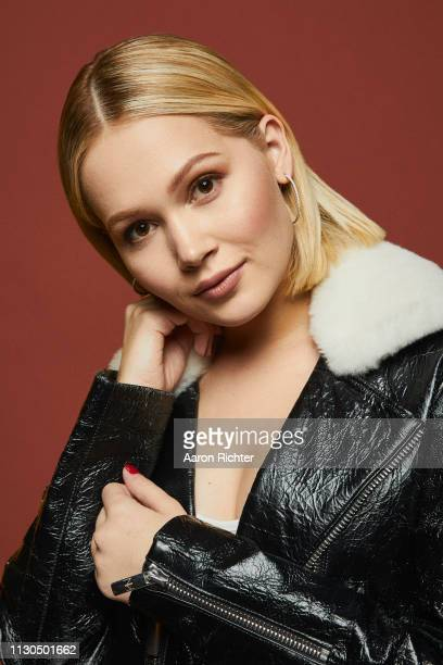 Kelli Berglund from 'STARZ' Now Apocalypse' poses for a portrait in the Pizza Hut Lounge in Park City Utah on January 27 2019 in Park City Utah
