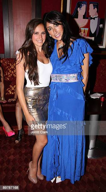 Kelli Brooke Tomashoff and Lauren Rae Levy attend Lauren Rae Levy's birthday celebration at Club A Steakhouse on August 13 2009 in New York City