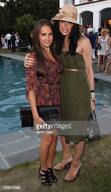 Kelli Brooke Tomashoff and Lauren Rae Levy attend the social life magazine party at The Social Life Estate on July 3, 2010 in Watermill, New York.