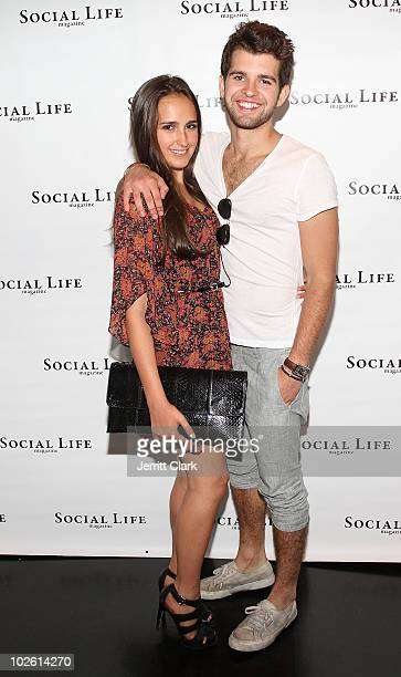 Kelli Brooke Tomashoff and PC Peterson attend the social life magazine party at The Social Life Estate on July 3 2010 in Watermill New York