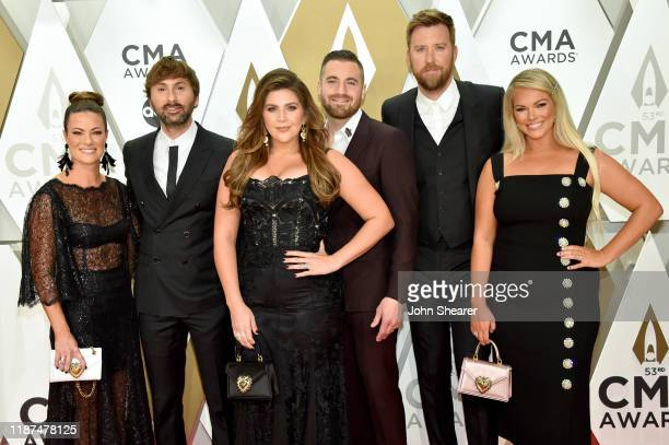 Kelli Cashiola Dave Haywood and Hillary Scott of Lady Antebellum Chris Tyrrell Charles Kelley of Lady Antebellum and Cassie McConnell attends the...