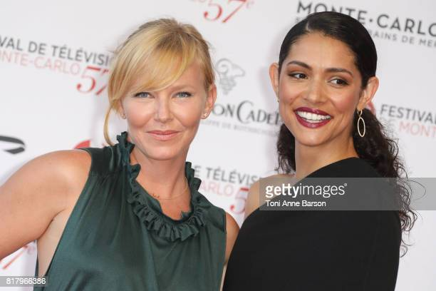 Kelli Giddish and Miranda Rae Mayo arrive at the Opening Ceremony of the 57th Monte Carlo TV Festival and World premier of Absentia Serie on June 16...