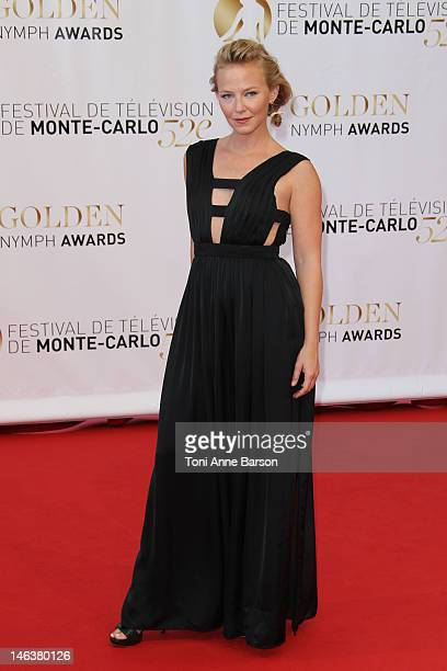 Kelli Giddish arrive at the Golden Nymph Award during the 52nd Monte Carlo TV Festival Closing Ceremony on June 14 2012 in MonteCarlo Monaco