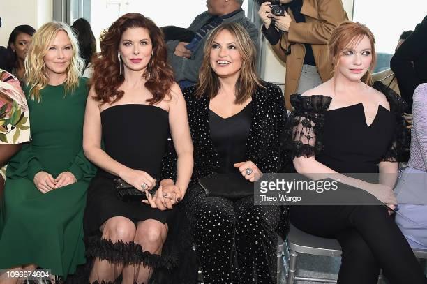 Kelli Giddish Debra Messing Mariska Hargitay and Christina Hendricks attend the Christian Siriano front row during New York Fashion Week The Shows at...