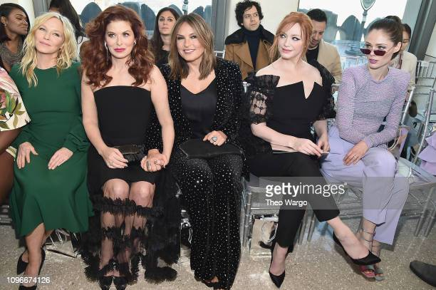 Kelli Giddish Debra Messing Mariska Hargitay Christina Hendricks and Coco Rocha attend the Christian Siriano front row during New York Fashion Week...