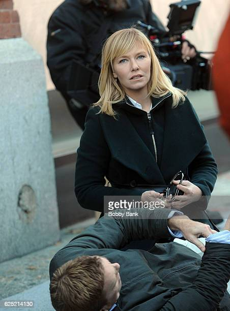Kelli Giddish on the set of 'Law Order' Special Victims Unit on November 22 2016 in New York City