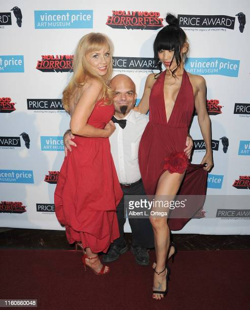 Kelli Maroney Sammy The Dwarf and Bai Ling attend the Premiere Of Exorcism At 60000 Feet as part of Hollywood Horrorfest held at Mayflower Club Inc...
