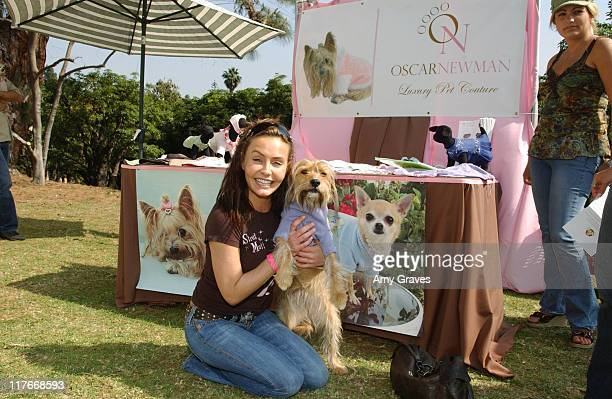 Kelli McCarty and Margaret at Oscar Newman during Silver Spoon Dog and Baby Buffet Day 2 at Private Residence in Los Angeles California United States...