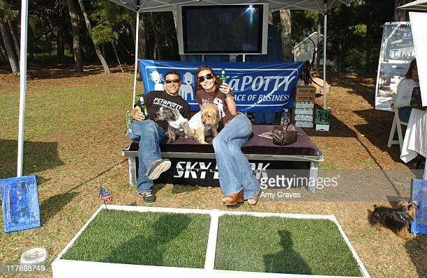 Kelli McCarty and Margaret at Peta Potty during Silver Spoon Dog and Baby Buffet Day 2 at Private Residence in Los Angeles California United States...