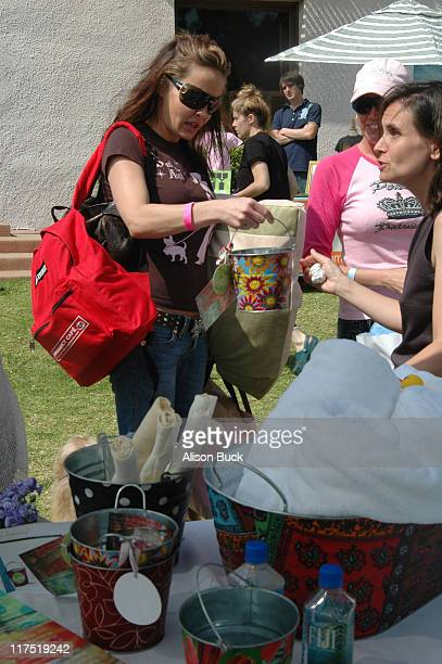 Kelli McCarty at Bread and Budder Buckets during Silver Spoon Dog and Baby Buffet Day 2 at Private Residence in Los Angeles California United States...