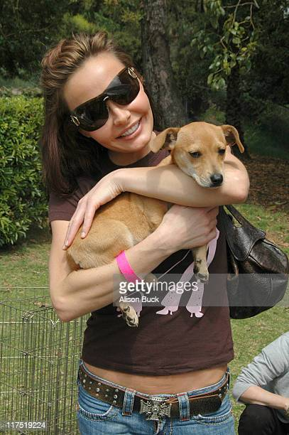 Kelli McCarty during Silver Spoon Dog and Baby Buffet Day 2 at Private Residence in Los Angeles California United States Photo by Alison...