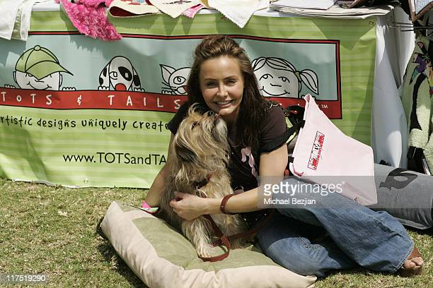 Kelli McCarty during Silver Spoon Dog and Baby Buffet Day 2 at Private Residence in Los Angeles California United States Photo by Michael...