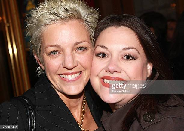 """Kelli O'Donnell and Brooke Elliott arrive at The Opening Night of Mel Brooks New Musical """"Young Frankenstein"""" on Broadway on November 8, 2007 at The..."""